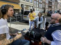 3FM DJ'S Frank en Eva maken radio op fietsvakantie Dordrecht