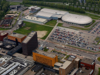 Luchtfoto Gezondsheidspark en Sportboulevard Dordrecht