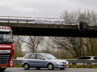 Spandoeken boven A16 Dordrecht