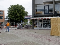 20170308 Artilleriemonument verhuist een stukje Dordrecht Tstolk 001