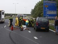 20173005 Auto op zijn kant Randweg N3 Dordrecht Tstolk 002