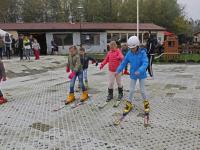 Basisscholieren op de ski's Vogelaarsweg Dordrecht