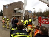 Daken van woningen afewaaid aan Keteldiep Dordrecht