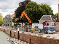Werkzaamheden aan Lange Geldersekade Dordrecht