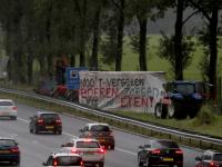 Boerenprotest actie A15 bij Papendrecht