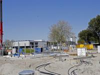 Werkzaamheden aan nieuw tankstation BP in vollegang Dordrecht
