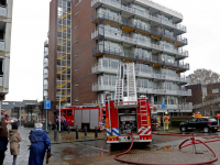 Brand in flatwoning in Papendrecht