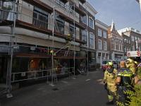 Brandje op dak grote Spuistraat Dordrecht