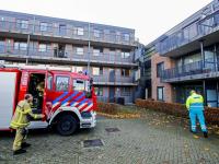 Brandweer rukt uit naar Burgemeester Brouwerstraat