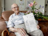 100-jarige henk schot Admiraalsplein Dordrecht