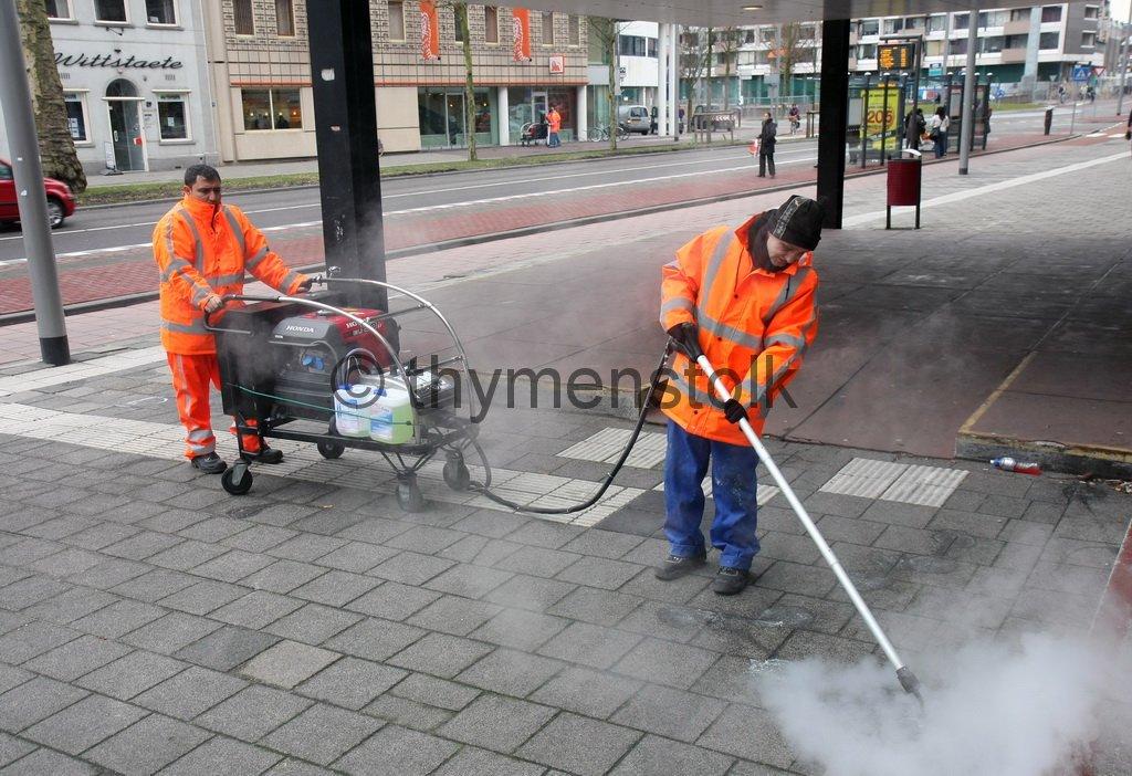 Kauwgom verwijderen van straat