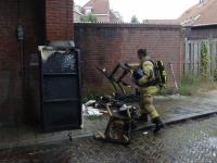 Buitenbrand in Violenstraat  Dordrecht