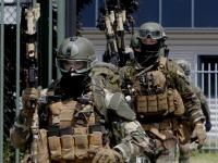 Mariniers oefenen in Dordrecht