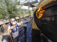 Schip 'rivier boot stad' gaat volgende fase in: van schip naar sculptuur Dordrecht