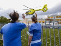 Coronapatiënt overgebracht per helikopter naar Ziekenhuis in Hoorn Dordrecht