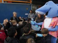 Kick off water drinken op de Regenboogschool Volkerakweg Dordrecht