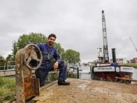 Pontons voor historische schepen na jaren klaar Stadswerven Dordrecht