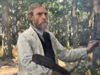 Willem Bastiaan Tholen, Zelfportret in bosrijk landschap (1895), Dordrechts Museum, schenking Bedrijfsvrienden Dordrechts Museum, 2018.