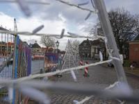 Opbouwen Kerstmarkt Dordrecht