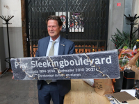 De Piet Sleekingboulevard bij afscheidsreceptie Khotinsky Dordrecht