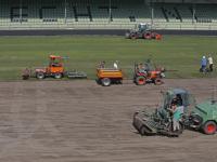 Begin gemaakt aan Nieuwe grasmat bij FC Dordrecht