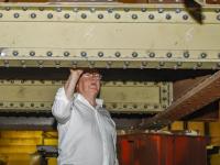 Onderdelen engelenburgerbrug in onderhoud in Zeeland