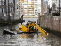 Onderwater werkzaamheden Engelenburgerbrug centrum Dordrecht