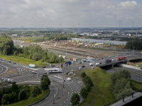 Overzichtsfoto nieuw wegdek viaduct N3 Dordrecht