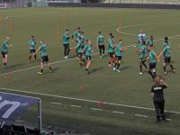 Laatste sprintjes en krachtoefeningen in stadion