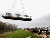 Fietsersbrug afgebroken