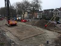 Dag voor de eerste paal van de nieuwe fietsenstalling ns station Dordrecht