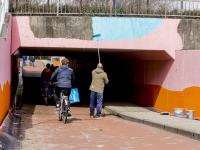 Fietstunnel krijgt kleurtje onder N3 Dordrecht