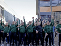 Flashmob Willem de Zwijger College De Meent Papendrecht