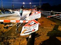 Flinke puinhoop op Prins Hendrikbrug Dordrecht