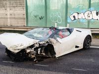 Gehuurde Lamborghini met hoge snelheid tegen vangrail N3 Dordrecht