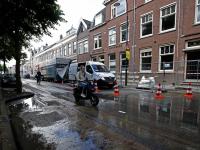 Gesprongen waterleiding zet deel Singel blank Dordrecht