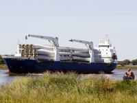 gigantische windmolenwieken op transport Dordrecht