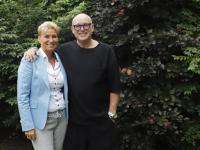 Margret Stolk (L) met René van der Gijp (R) als lijstduwer voor de Verenigde Senioren Partij Dordrecht