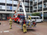 Glazenwasser vast in gevelbak Stadskantoor Dordrecht