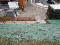 Groene substantie roept vragen op station Stadspolders Dordrecht