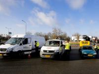 Politiecontrole parkeerplaats Recklinghauseweg Dordrecht