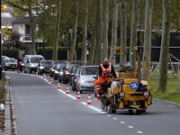 Nieuwe belijning aangelegd op Merwedestraat Dordrecht