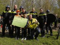 Sponsorloop en demonstaties politie Het Kristal Dordrecht