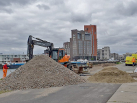 Inrichting bouwterrein Prins Clausbrug gestart