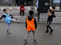 Voetballen op het Energieplein Dordrecht