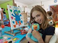 Kinderen schilderen 'Knuffel voor jou' 001
