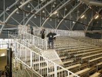 Opbouwen ICU World cup finals Shorttrack Dordrecht