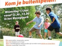Flyer Buitenspeeldag 13 juni 2018 Weizigtpark