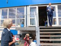 Koninklijke onderscheiding mevrouw JJ Wierenga Beelen zeilvereniging KDR&ZV Dordrecht