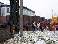 eerste paal slaan Oranje Wit Dordrecht